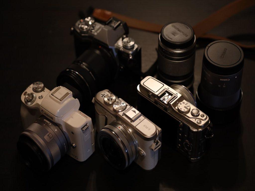 ミラーレスカメラの画像
